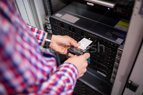 Technikus merevlemez vezetés penge szerver szoba Stock fotó © wavebreak_media