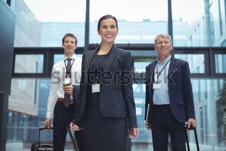 портрет бизнеса коллеги Постоянный план коридор Сток-фото © wavebreak_media