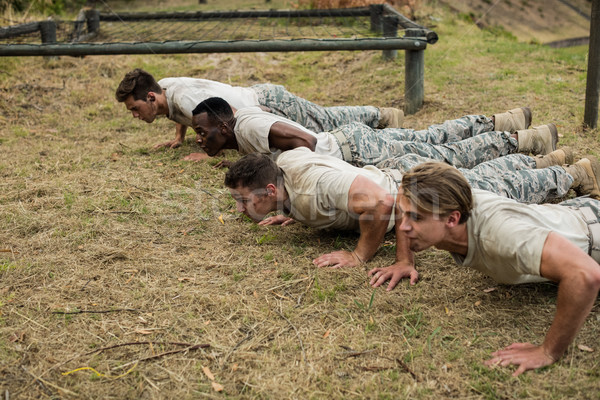 Soldiers performing pushup exercise Stock photo © wavebreak_media