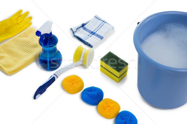 Emmer schoonmaken uitrusting mode Stockfoto © wavebreak_media