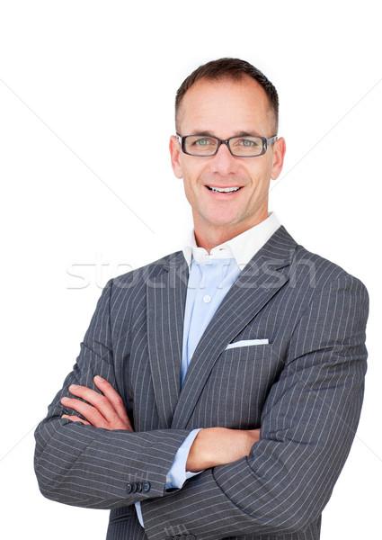 Atraente maduro empresário óculos branco Foto stock © wavebreak_media