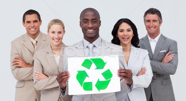 Business team recycleren symbool papier Stockfoto © wavebreak_media