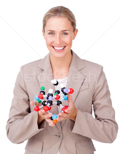 Jóvenes mujer de negocios aislado blanco sonrisa Foto stock © wavebreak_media