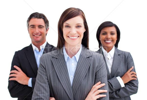 équipe commerciale blanche affaires sourire heureux groupe Photo stock © wavebreak_media