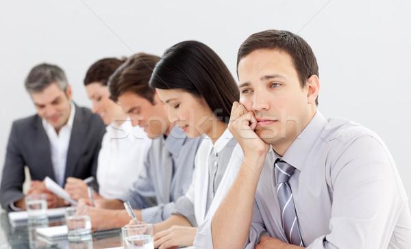 魅力的な ビジネスマン 退屈 プレゼンテーション チーム 会議 ストックフォト © wavebreak_media