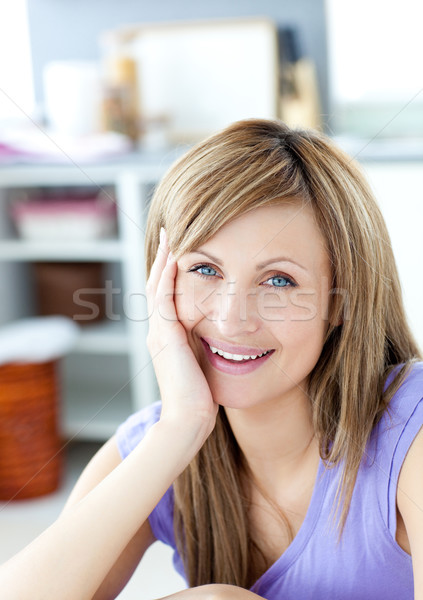 Teen woman looking at the camera in the kitchen  Stock photo © wavebreak_media