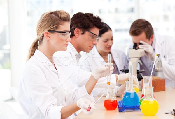 Jonge wetenschap studenten laboratorium arts werk Stockfoto © wavebreak_media