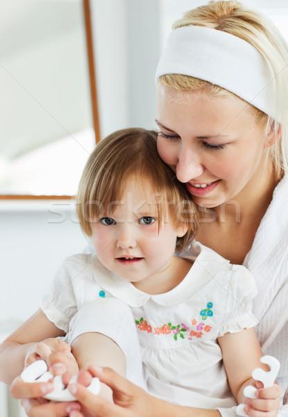 Mutter spielen cute Tochter Bad Frau Stock foto © wavebreak_media