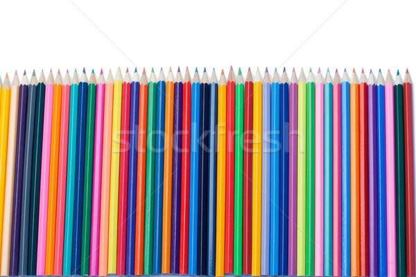 Color pencils vertical alignment on a white background Stock photo © wavebreak_media