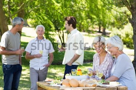 Collage of a mature couple in a park Stock photo © wavebreak_media