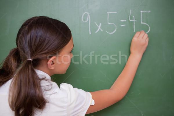 Schülerin schriftlich führen Tafel Schule Studenten Stock foto © wavebreak_media