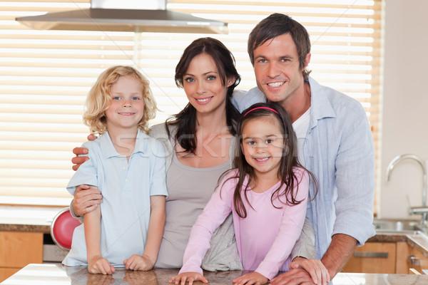 Family standing up in a kitchen Stock photo © wavebreak_media