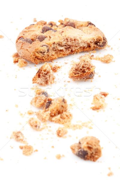 Close up of an half eaten cookie against a white background Stock photo © wavebreak_media