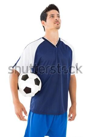 Sportsmenka piłka biały sportu niebieski Zdjęcia stock © wavebreak_media