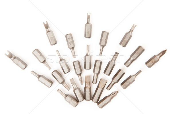 Ezüst fúró ki építkezés szerszám ventillátor Stock fotó © wavebreak_media