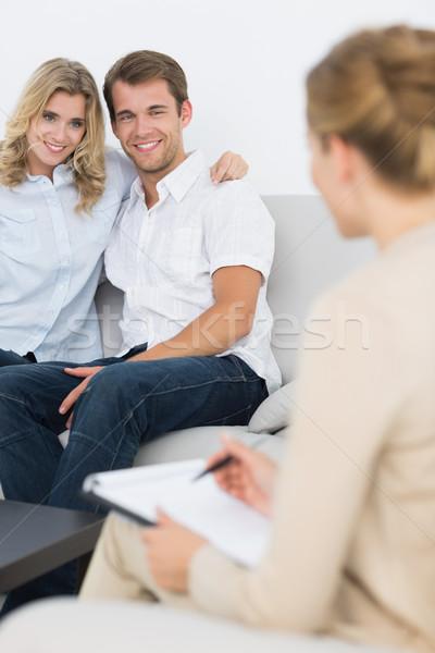 Pareja reunión financieros asesor casa Foto stock © wavebreak_media