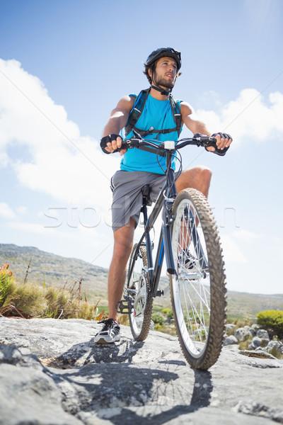 Dopasować człowiek rowerowe teren górskich Zdjęcia stock © wavebreak_media