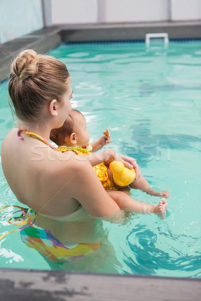 Bella madre baby piscina tempo libero centro Foto d'archivio © wavebreak_media
