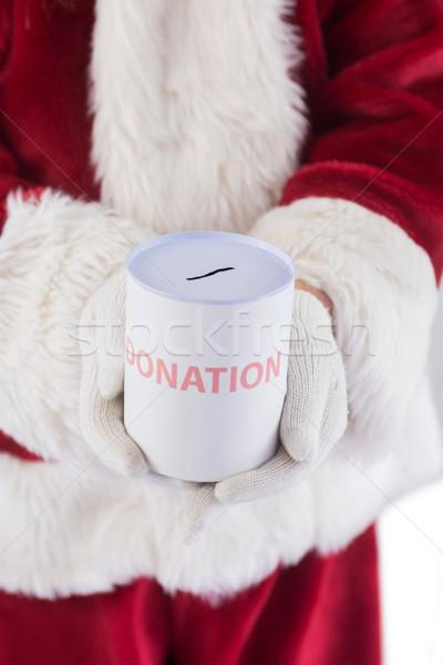 Lata doações branco homem natal Foto stock © wavebreak_media