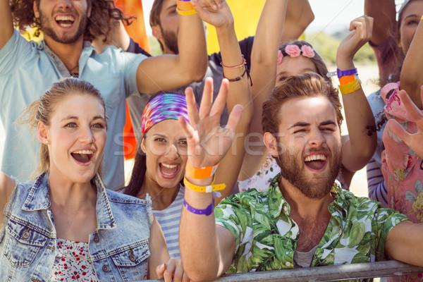 興奮した 若者 歌 音楽祭 音楽 パーティ ストックフォト © wavebreak_media