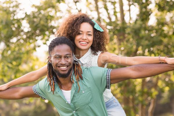 Cute couple in the park Stock photo © wavebreak_media