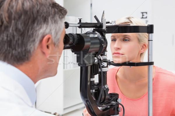 Optometrist sarışın kadın tıbbi ofis kadın Stok fotoğraf © wavebreak_media