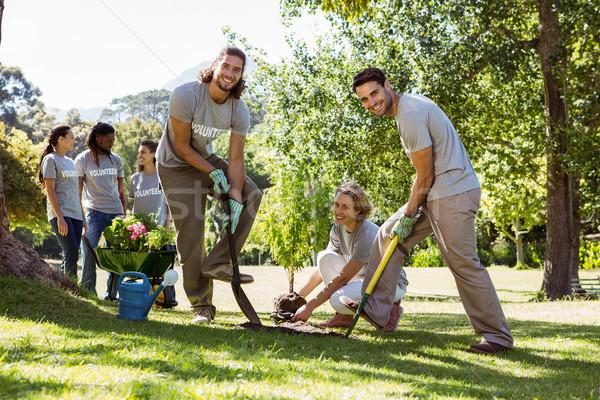 Team of volunteers gardening together Stock photo © wavebreak_media