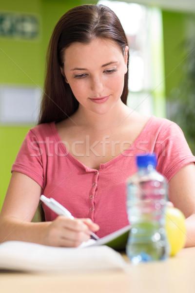 Female student doing homework in library Stock photo © wavebreak_media