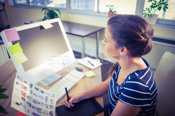 Mutlu editör çalışma büro yaratıcı ofis Stok fotoğraf © wavebreak_media