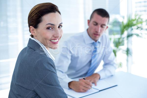 деловые люди обсуждение служба делопроизводства человека команда Сток-фото © wavebreak_media