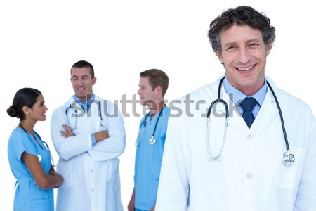 Doctors and nurse with hand crossed together Stock photo © wavebreak_media