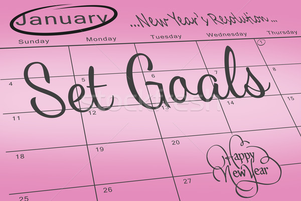 Composite image of new years resolutions Stock photo © wavebreak_media