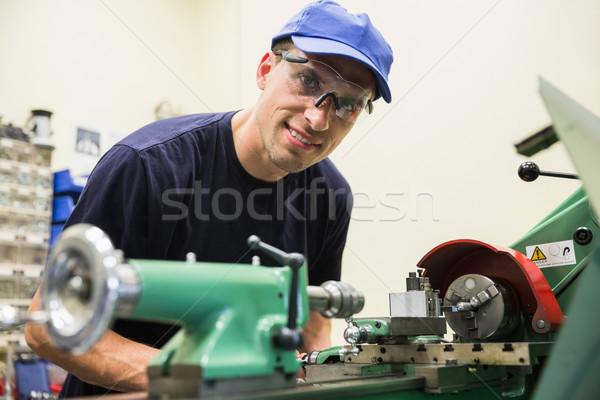 Inżynierii student ciężki maszyn uczelni człowiek Zdjęcia stock © wavebreak_media