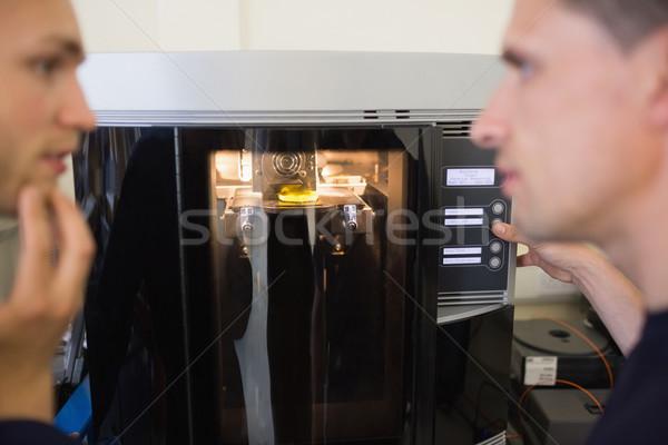 Mérnöki diákok 3D nyomtató egyetem számítógép Stock fotó © wavebreak_media