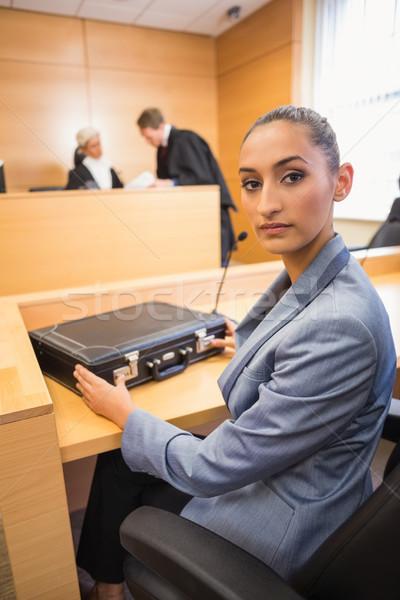 Advocaat naar camera rechter kamer recht Stockfoto © wavebreak_media