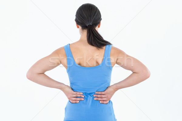 Dość brunetka cierpienie biały kobieta Zdjęcia stock © wavebreak_media