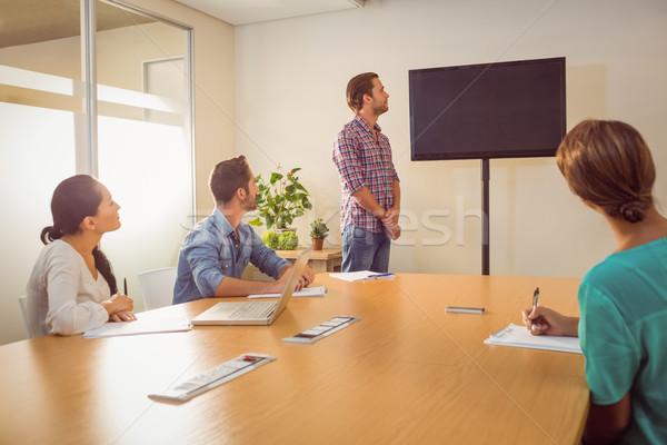 внимательный бизнес-команды презентация служба компьютер заседание Сток-фото © wavebreak_media