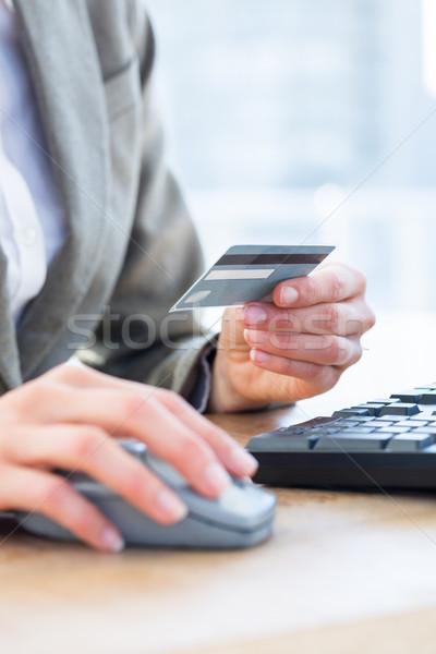 Affaires carte de crédit internet bureau ordinateur Photo stock © wavebreak_media