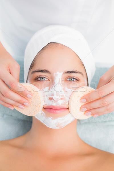 Hände Putzfrau Gesicht Baumwolle Ansicht spa Stock foto © wavebreak_media