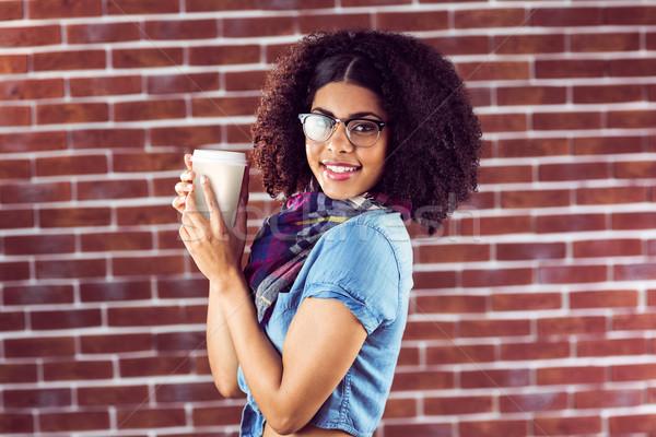 улыбаясь привлекательный Кубок портрет Сток-фото © wavebreak_media