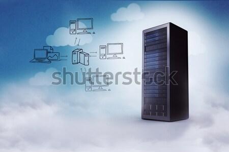 Imagem servidor torre blue sky rede Foto stock © wavebreak_media