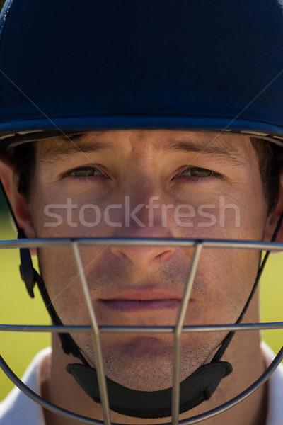 肖像 クリケット プレーヤー 着用 ヘルメット ストックフォト © wavebreak_media