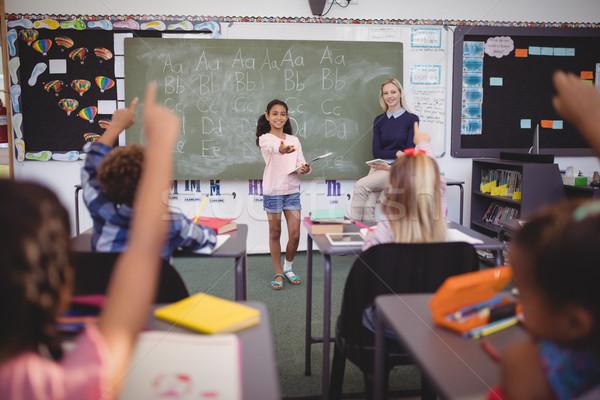 Uczennica lekcja szkoły kobieta Zdjęcia stock © wavebreak_media