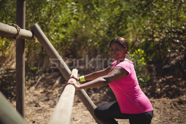 Portré boldog nő testmozgás szabadtér felszerlés Stock fotó © wavebreak_media