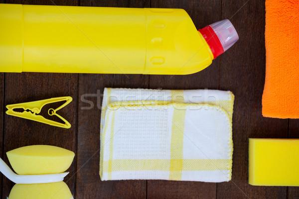 Ingesteld schoonmaken uitrusting home fitness Stockfoto © wavebreak_media