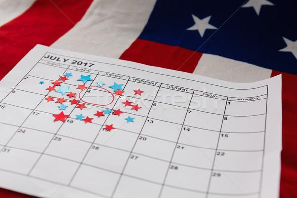 Naptár csillag forma dekoráció háttér zászló Stock fotó © wavebreak_media