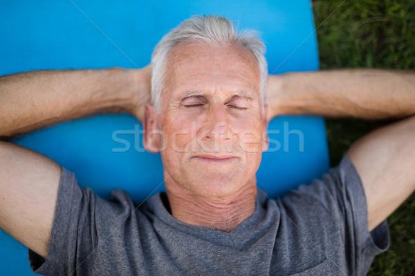 старший человека парка Сток-фото © wavebreak_media