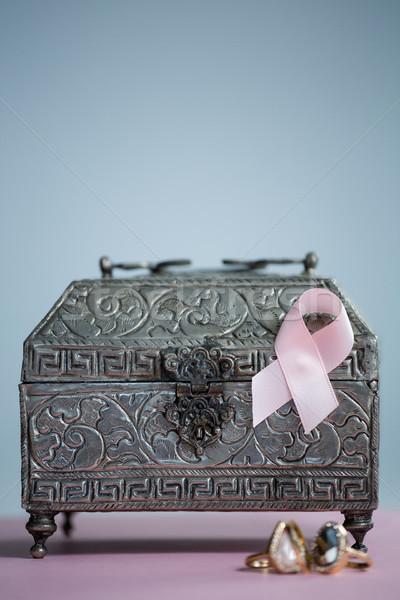 Primo piano rosa consapevolezza nastro anelli Foto d'archivio © wavebreak_media