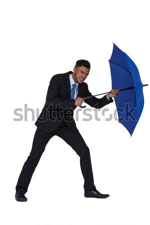Yandan görünüş işadamı ayakta beyaz adam el sıkışma Stok fotoğraf © wavebreak_media