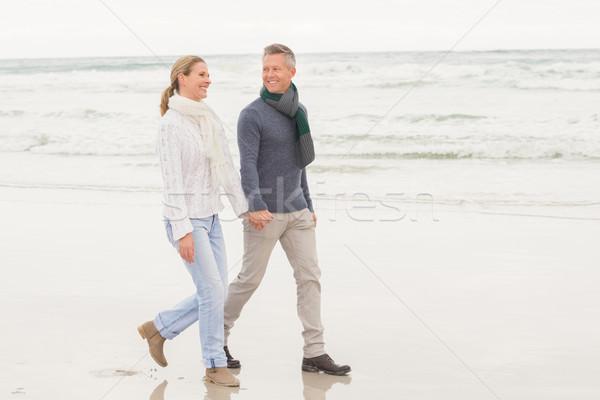 Pareja agradable día fuera playa Foto stock © wavebreak_media